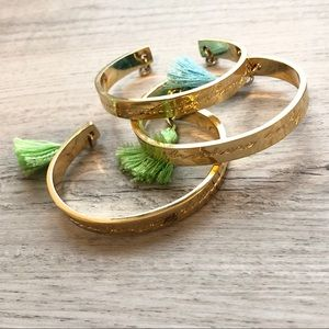 Lilly Pulitzer Gold Tassel Bracelets